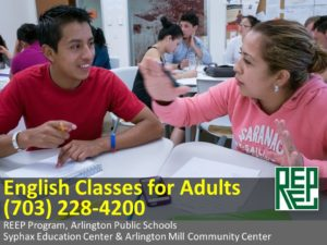 REEP English Classes for Adults Arlington Virginia