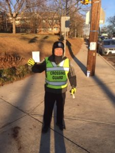 Crossing Guard with hot chocolate
