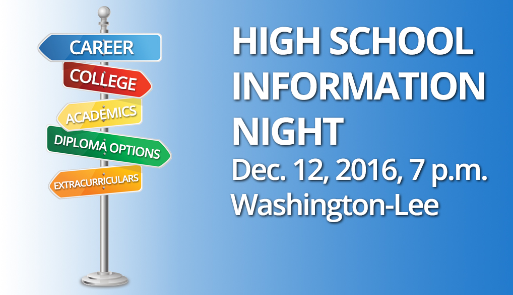 APS High School Information Night to be Held on Mon, Dec. 12