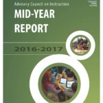 Advisory Council on Instruction annual report