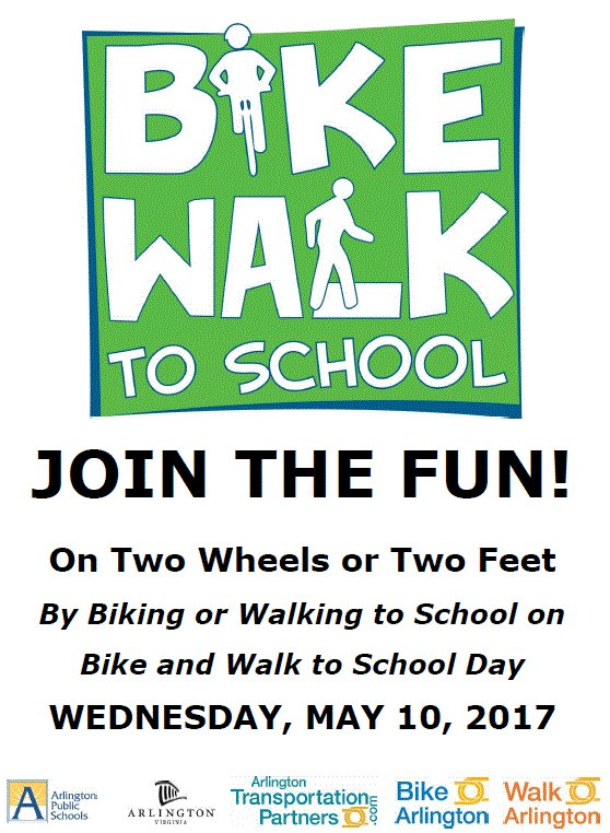 walk and bike to school day flyer