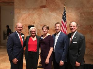 From left to right. Dr. Steve Staples, Virginia Superintendent of Public Instruction, Dr. Barbara Kanninen, Arlington School Board Chair, Michelle Cottrell-Williams, Wakefield principal Chris Willmore and APS superintendent Dr. Pat Murphy