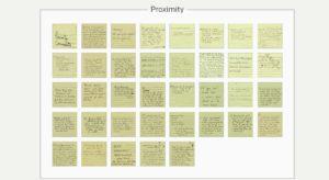 community input post-its Proximity 3