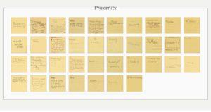 community input post-its Proximity