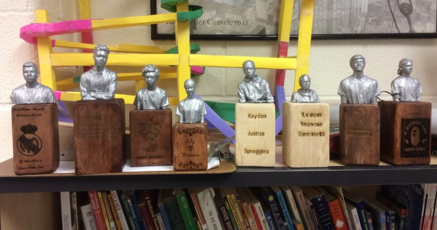 8th grade culmination project combines 3D scanning, 3D printing, woodworking and laser engraving
