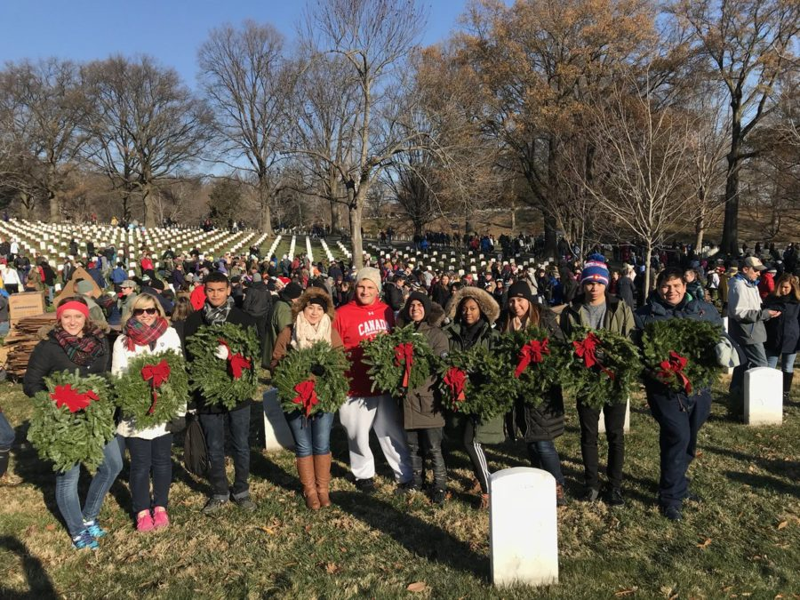 AFJROTC honor veterans at Wreaths Across America event at Arlington National Cemetery