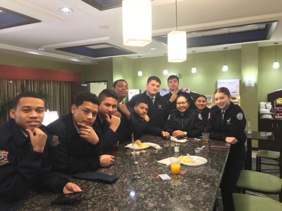 Breakfast before Drill Team Meet in Delaware -AFJROTC