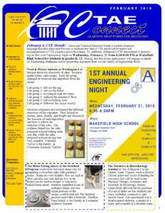 Picture of page 1 of the CTAE Newsletter