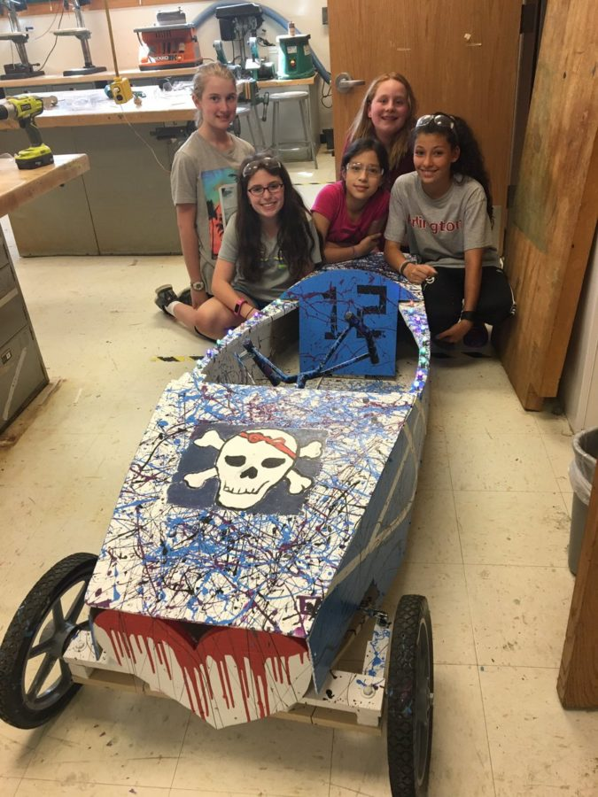Design & Engineering Club's finished car