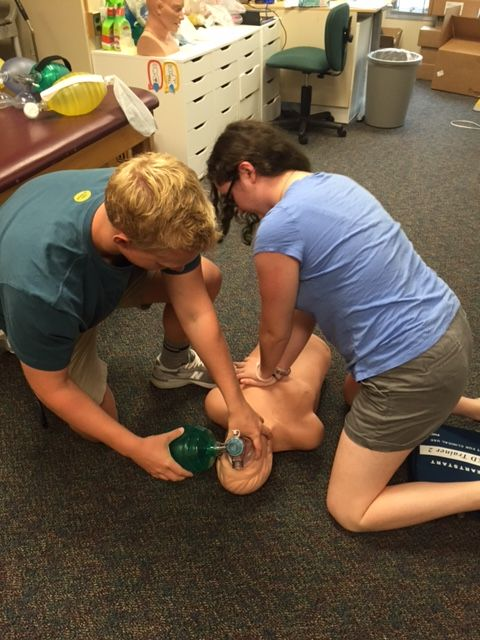 EMT students practicing CPR