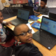 First Graders using Scratch to code at Randolph