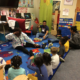 Working with preschoolers during pre-circle time