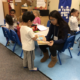 Early Childhood Students working with Career Center Community Preschool