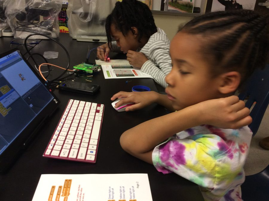 Programming a Raspberry Pi with Boolean Girls