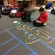 Students urban planning with sphero