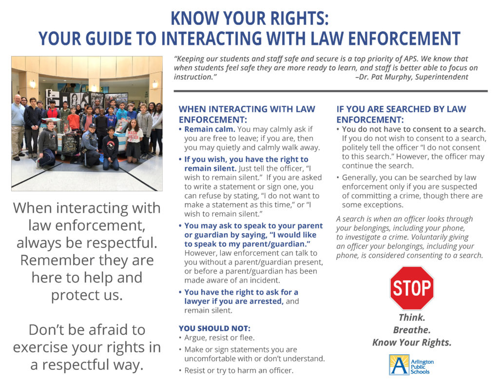 Know Your Rights brochure