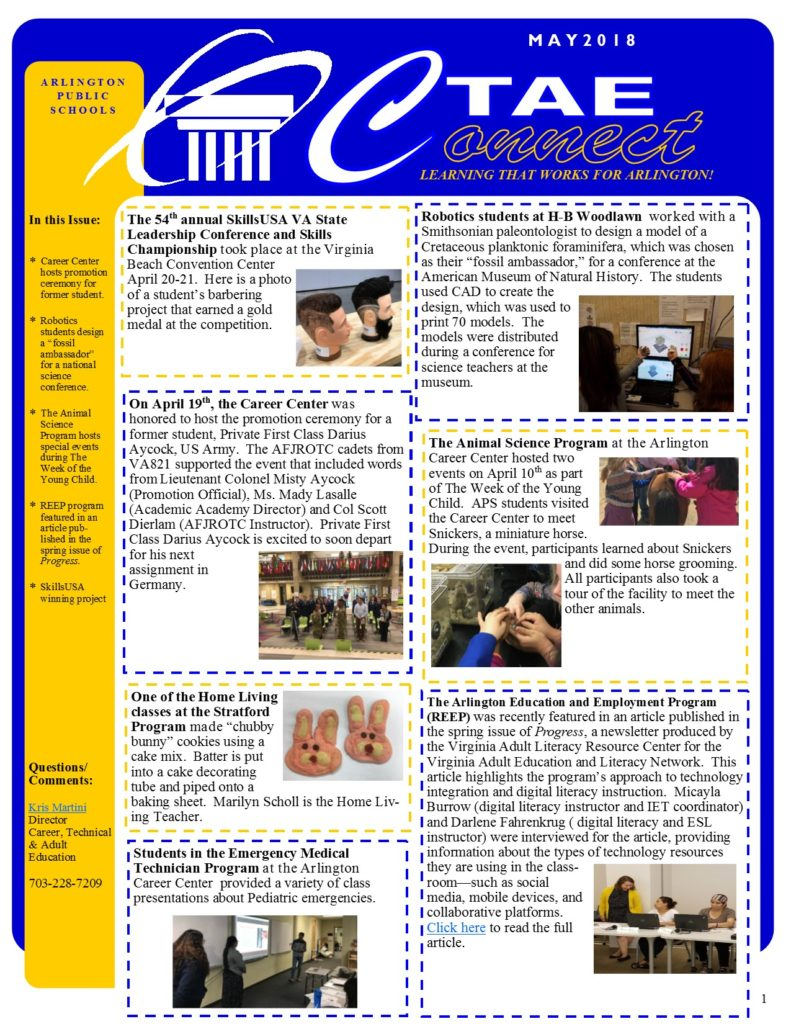 CTAE Newsletter May