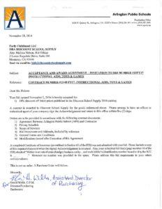 15 08fy17 discount school supply signed contract arlington public