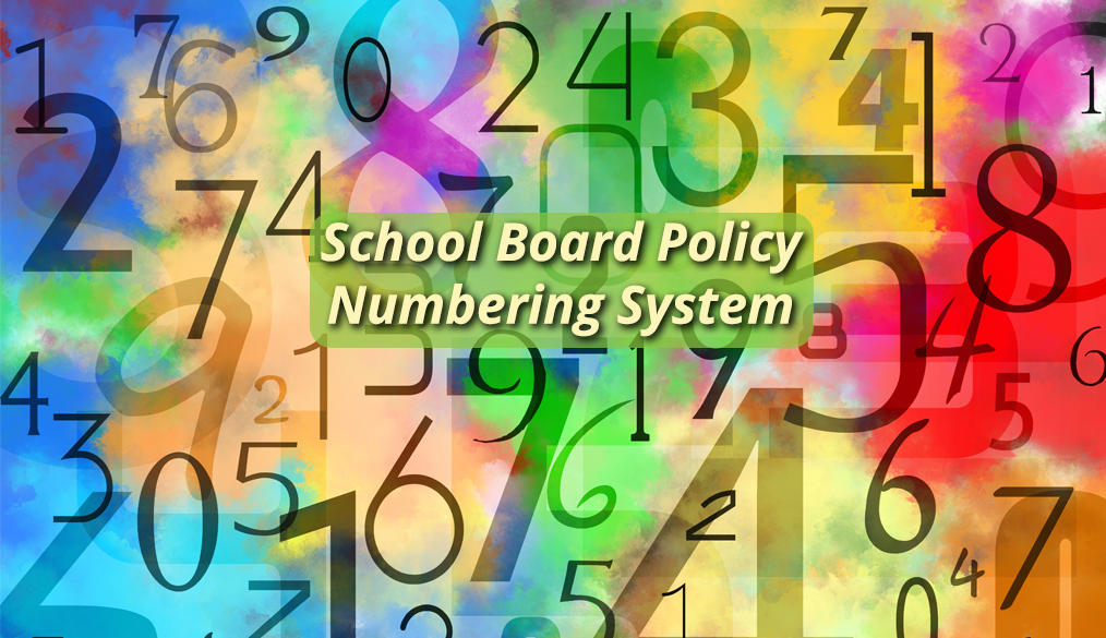 New School Board Policy Numbering System