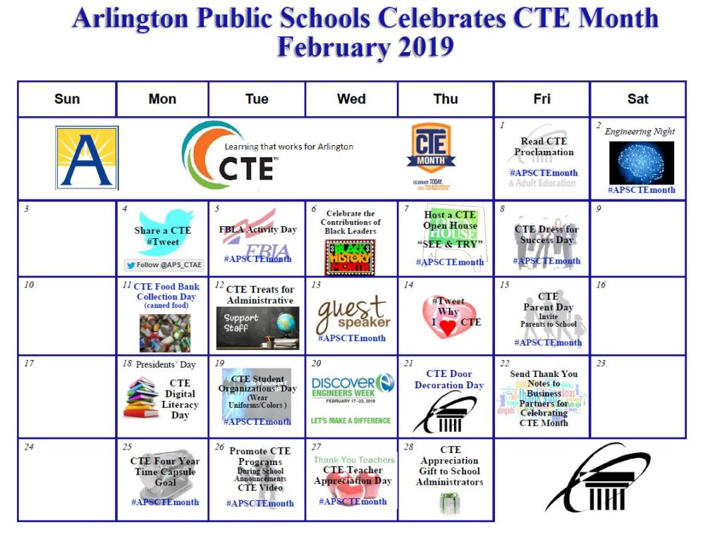 CTE Month Calendar