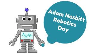 Logotipo del Día de la Robótica de Adam Nesbitt