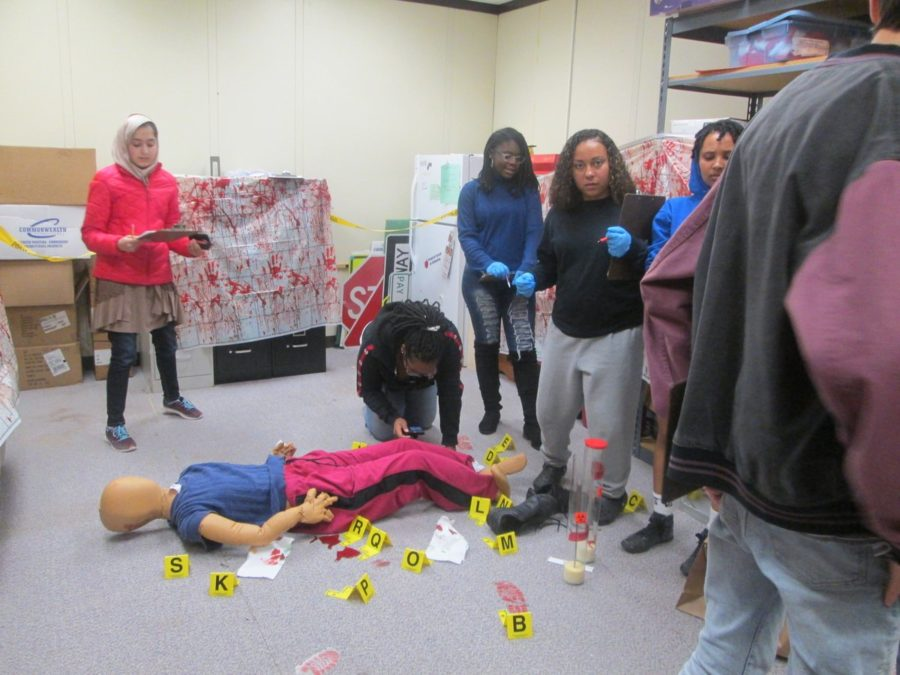 Forensic Technology working on a Crime Scene