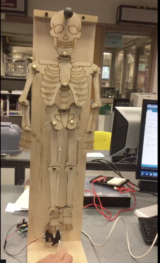 Laser Cutting Skeletons that move with a Servo Motor