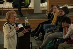 Holocaust Survivor speaks at Career Center
