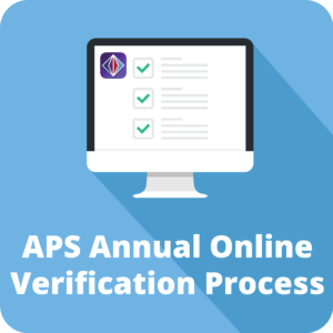 APS annual online verification process