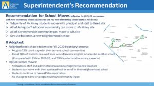 The Superintendent's Recommendation for School Moves