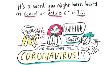 NPR cartoon for kids about Coronavirus