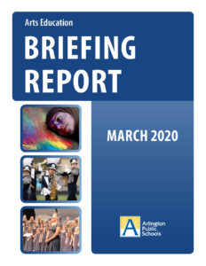 cover of arts ed briefing report