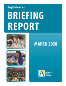cover of English Learners briefing report