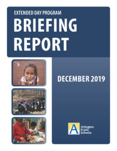 cover of extended day briefing report