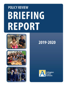 cover of policies briefing report