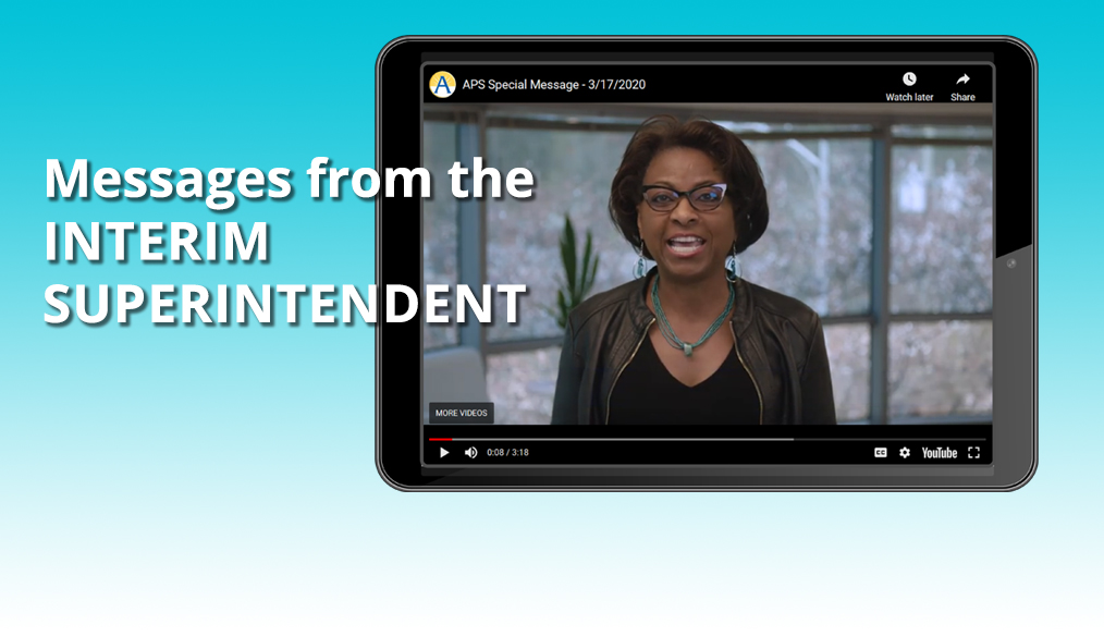 Get the Latest from the Interim Superintendent