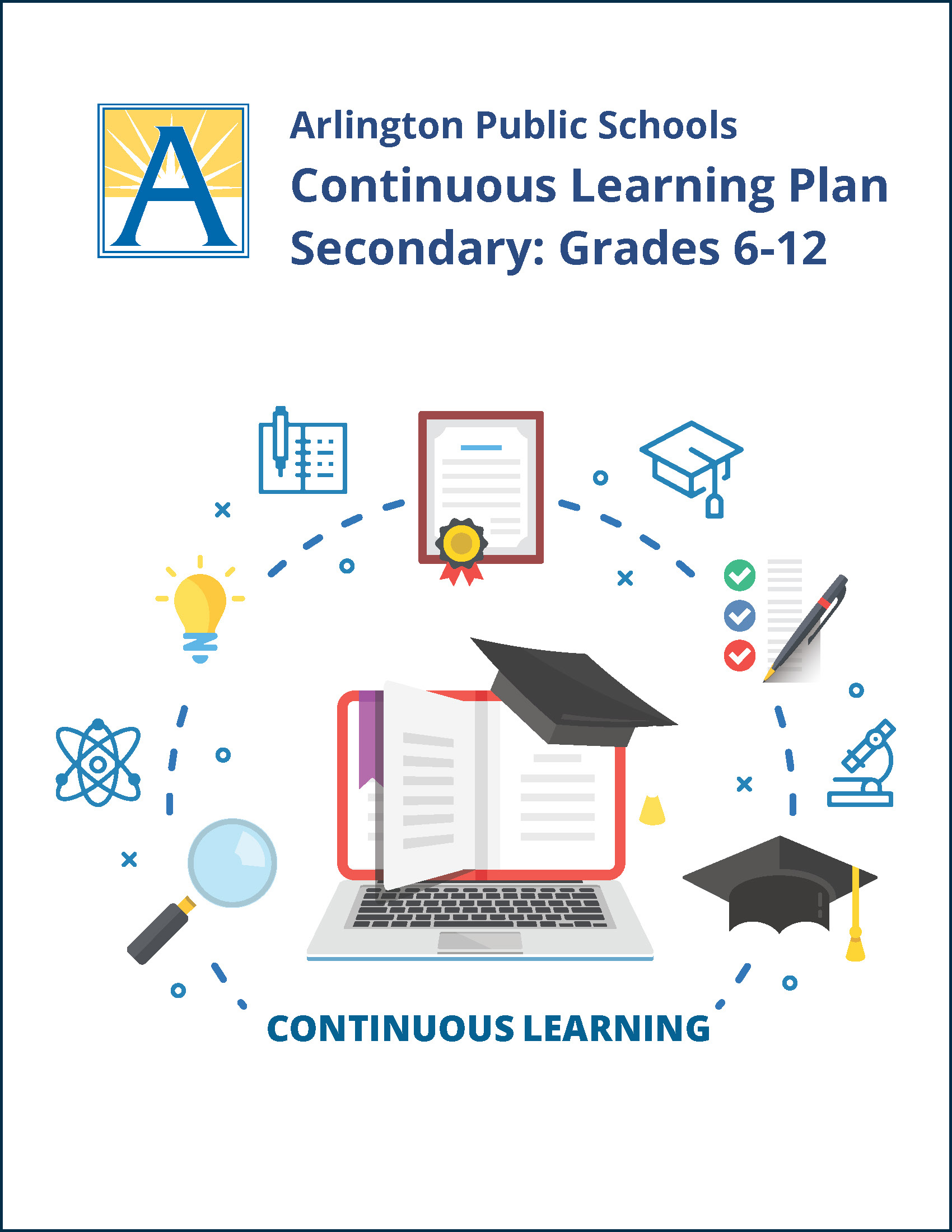 Cover of secondary continuous learning plan