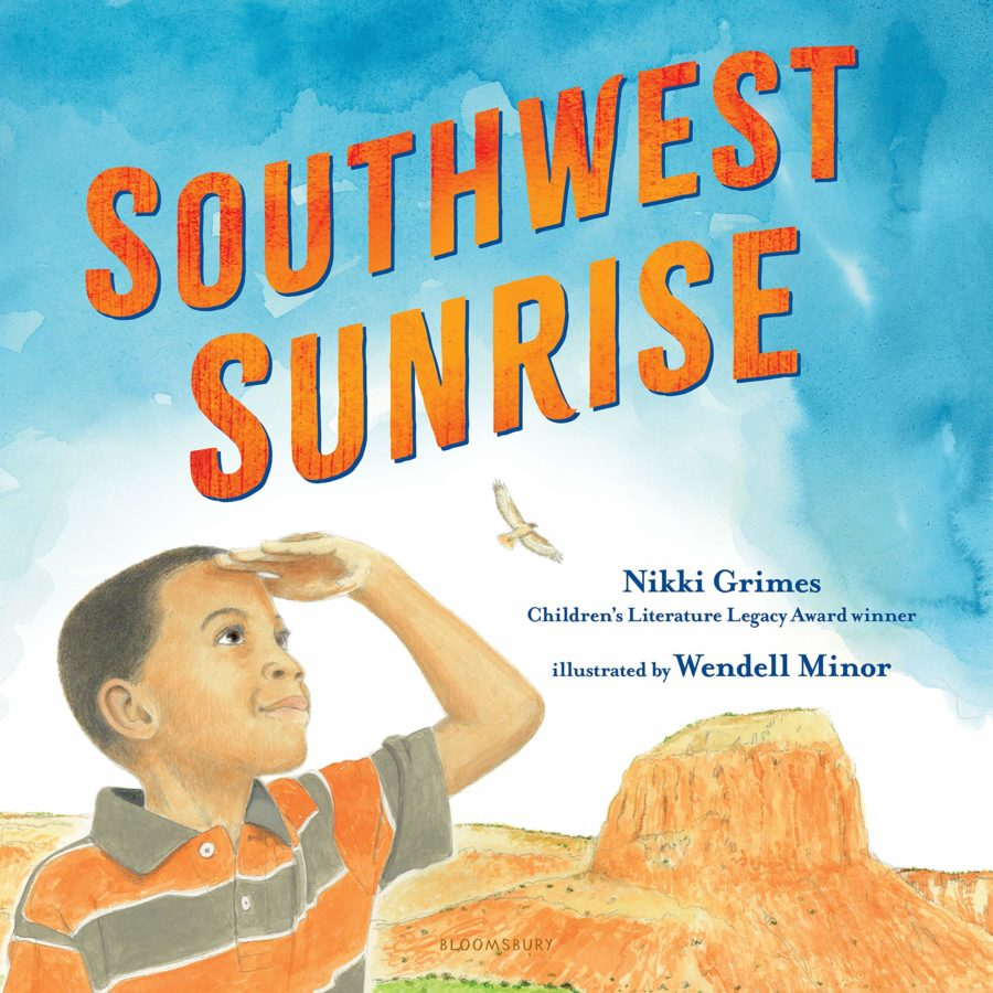 book cover of Southwest Sunrise by Nikki Grimes; illustrated by Wendell Minor
