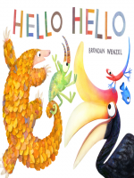 "Book Cover: ""Hello, Hello by Brendan Wenzel"" with illustration of animals."