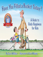 "Book Cover: ""Have You Filled a Bucket Today?: A Guide to Daily Happiness for Kids, by Carol McCloud"" with illustration of young boy walking with an elderly man."