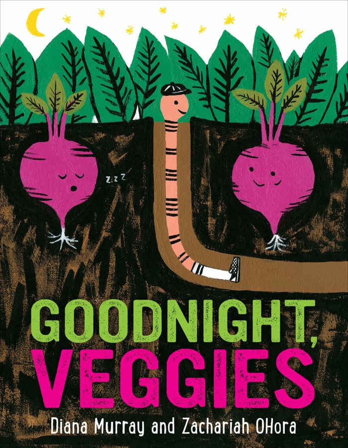 Book cover of Goodnight Veggies by Diana Murray and Zachariah OHora