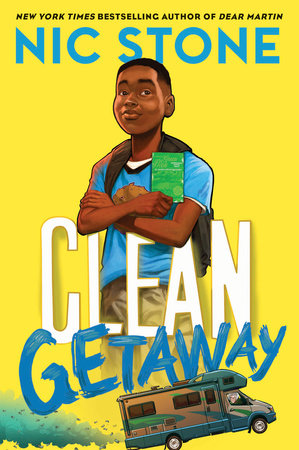 Book cover of Clean Getaway by Nic Stone; illustrated by Dawud Anyabwile