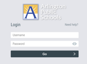 aps login screen