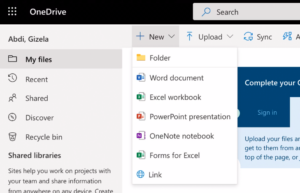 New OneDrive