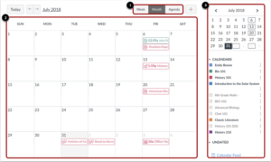 Canvas browser calendar month