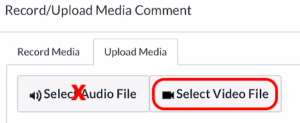 Canvas browser record media select video file
