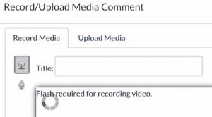 Canvas browser record media flash error