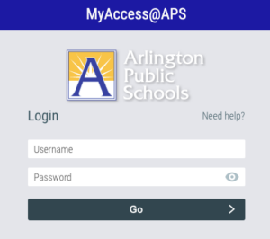 MyAccess@APS sign in page
