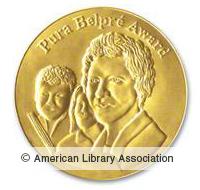 Pura Belpre Award logo and link to ALA website