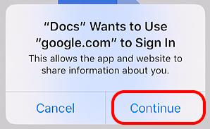 Canvas application Google Cloud continuer